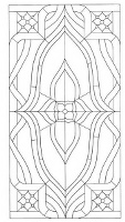 Color Your Own Stained Glass Pattern