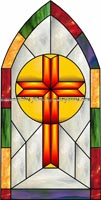 Church Stained Glass Window Films and Clings
