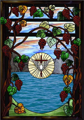 Grape-Arbor-with-dove-cross
