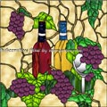 Grape Stained Glass Window Stick-Ons