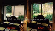 Installed Window Murals and Mural Backgrounds